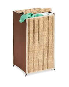 Tall Wicker Weave Hamper